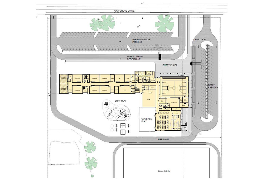 Conceptual plan of school layout