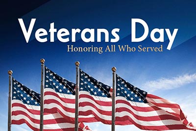 Veteran's Day-Nov. 11-NO SCHOOL